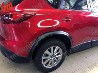 Arch Extension, Wide, Fender, Flares 30mm for Mazda CX-5 (KE) Painted to Black Textured