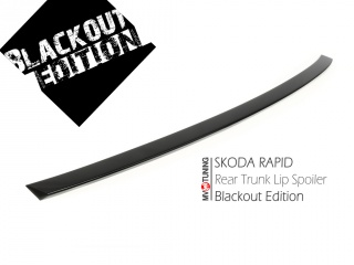 BLACKOUT EDITION. Spoiler Lip(Duck tail) on Trunk lid for Skoda Rapid (2012 - to pesent)