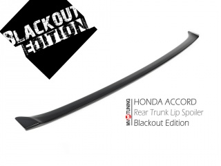 BLACKOUT EDITION. Lip Spoiler to the trunk lid for Honda Accord 8 (VIII) / Acura TSX (2008-2013)