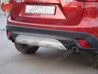 Painted Rear Diffuser(Pad) for Bumper, Protect Cover(pad) for Mazda CX5 (KE) Silver Gloss Color