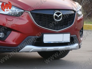 Painted Front Pad for Bumper, Protect Cover for Mazda CX5 (KE) Silver Gloss